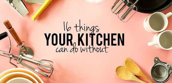 minimalist kitchen - 16 things your kitchen can do without
