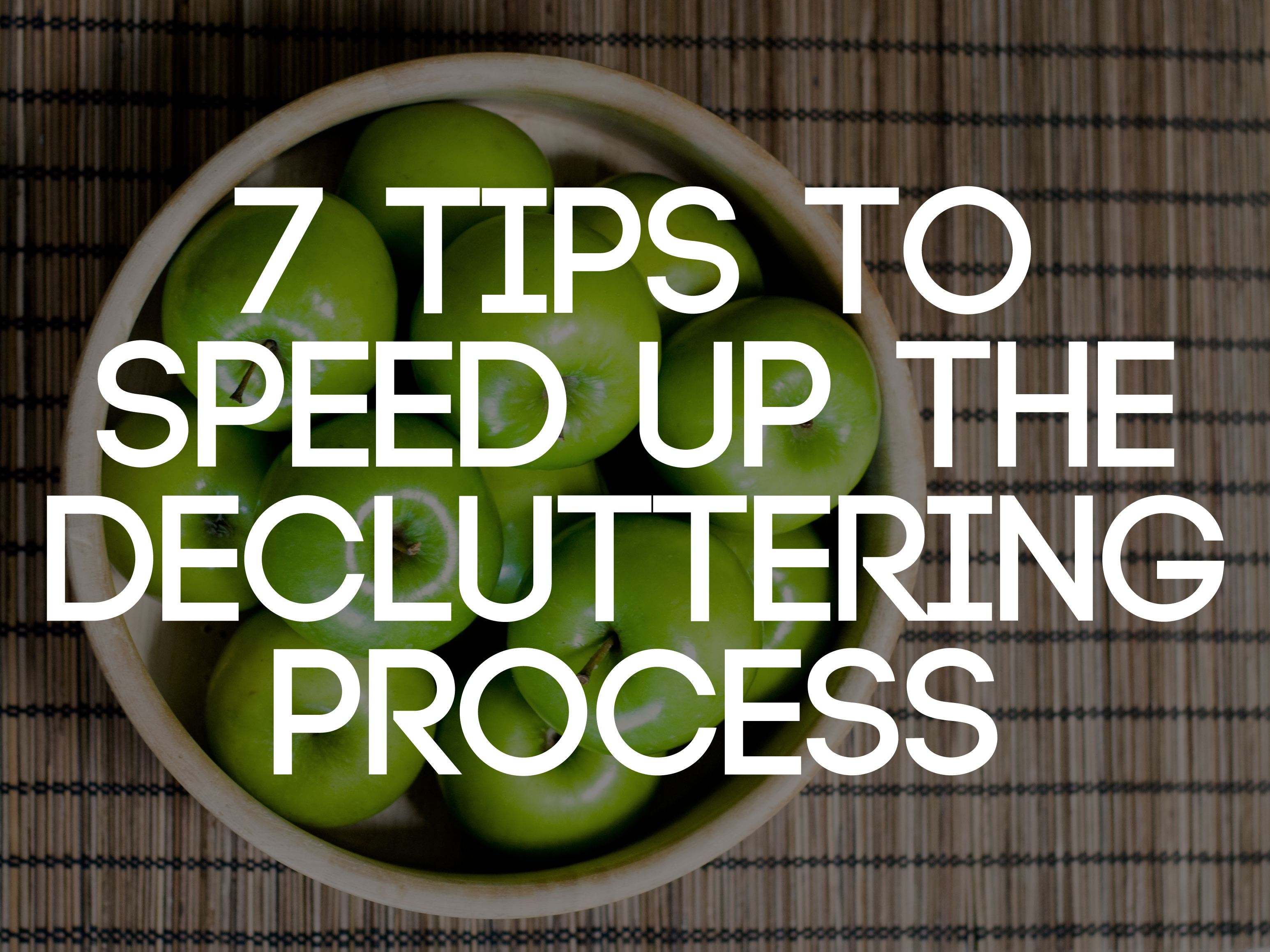 7 tips to speed up the decluttering process - Important thing consider decluttering ...