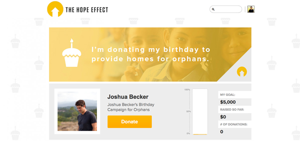 hope-effect-fundraising-screenshot