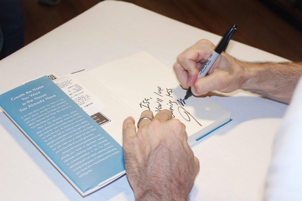 Joshua Becker Signing
